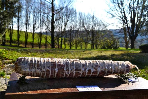 Lonza con sfondo alberato - salumi Piemonte - Agrisalumeria del Bosco